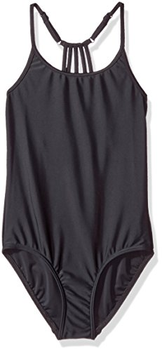 Seafolly Little Girls' Aqua Fit Tank, Black, 6