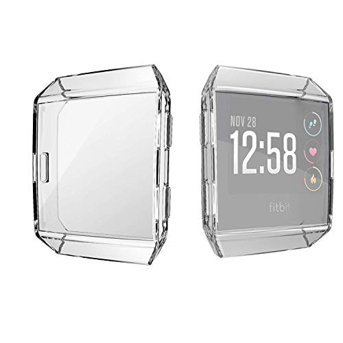 KPYJA for Fitbit Ionic Screen Protector, TPU All-Around Protective Case High Defination Clear Ultra-Thin Cover for Fitbit Ionic Smart Fitness Watch (Clear)
