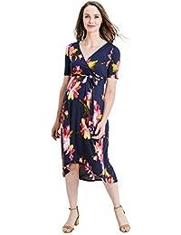 a12022134f4 Women s High-Low Surplice Wrap Maternity Dress with Waist Belt