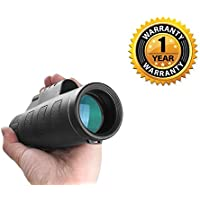 Raptas Panda High Quality Outdoor Day and Night Vision Long Range Wide View Monocular Telescope Compatible with IOS, Android Devices. (One year )