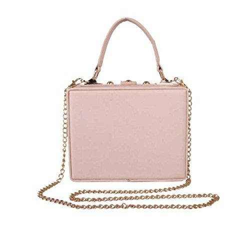 Sacchetto Tracolla Lusso Ricamo Handbag Farfalla Flower Borsa Pranzo Diamond Pink Del Di A Perle g4qwqW1n