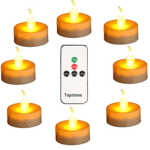 Topstone LED Tealight Candles with Remote Set of 12