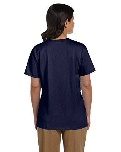 Hanes Con V T A Fit Relaxed Scollo Comfortsoft Donna Da By shirt navy m rwXgqSxr8