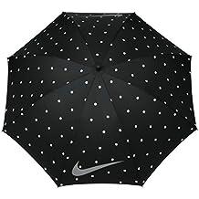 Nike 62 Inch Windproof Umbrella Black Polka Dot