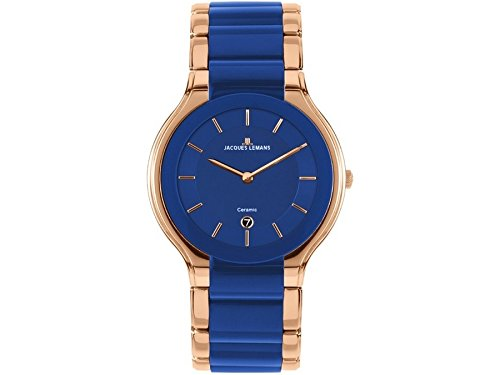 Jacques Lemans Dublin 1-1581J 41mm Ion Plated Stainless Steel Case Ion Plated Stainless Steel Synthetic Sapphire Men's Watch