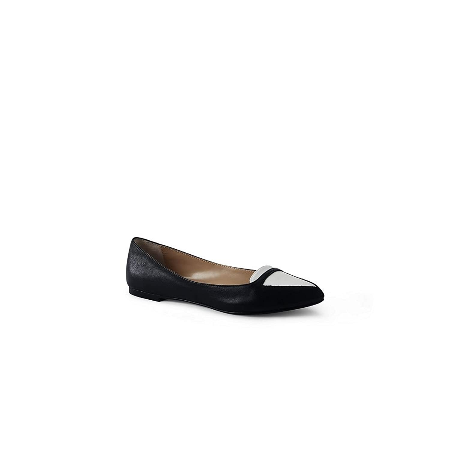 Lands' End Canvas Women's Contrast Flats, Black/White