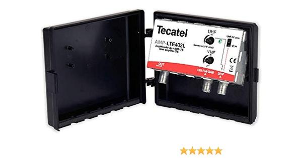 Amplificador de Mástil TDT 40dB LTE 5G 12-24V Tecatel