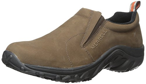 Merrell Men's Jungle Moc Pro Grip Nubuck Slip-Resistant Work Shoe, Brown, 7.5 M US (Moc Penny)