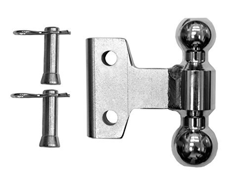 WD 2 Inch x 2-5/16 Inch Plated Steel Combo Ball 2 Pins and Clips 10K/14K GTWR by Andersen Hitches (Image #1)