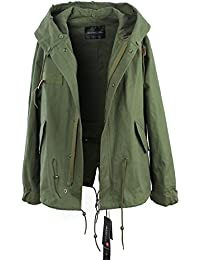 Ivan Johns Warm Winter High Fashion Street Cotton Demin Hooded Trench for woman NEW Casual Washed