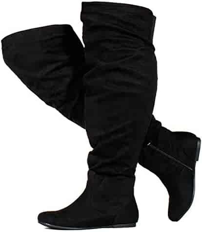 f01bf7132349 RF ROOM OF FASHION Women's Wide Calf Over The Knee High Slouchy Boots