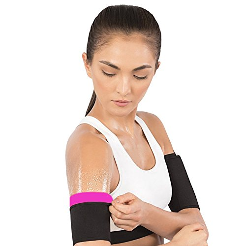 Z&S Arm Trimmers Men & Women Sauna Neoprene Gym Exercise Compression Slimmer Bands Workout Fat Burning Sudatory Black,2pcs Pack