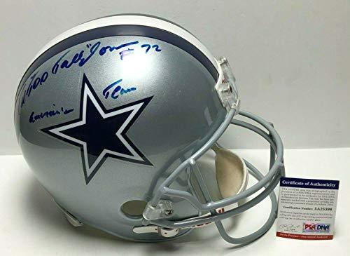 Ed 'Too Tall' Jones Signed Dallas Cowboys F/S Replica Helmet