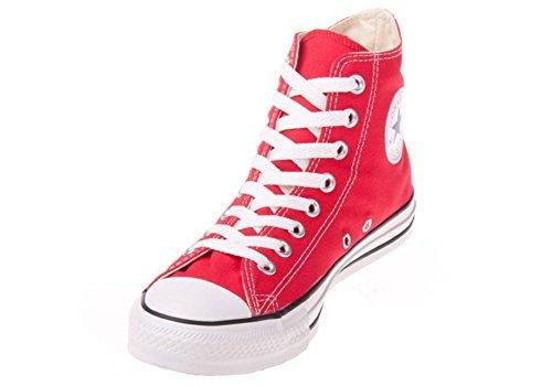 Converse Unisex Chuck Taylor Hi Basketball Shoe (3.5 Men 5.5 Women, Red) (Red, 8.5 B(M) US Women / 6.5 D(M) US Men)