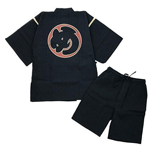 Edoten Original discharge style Cotton 100% Kimono Jimbei 705 XXL Navy Hikeshi firefighter by Edoten