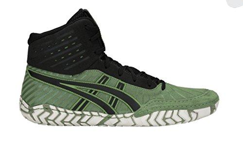 n's Wrestling Shoes, Cedar Green/Black, Size 6.5 ()