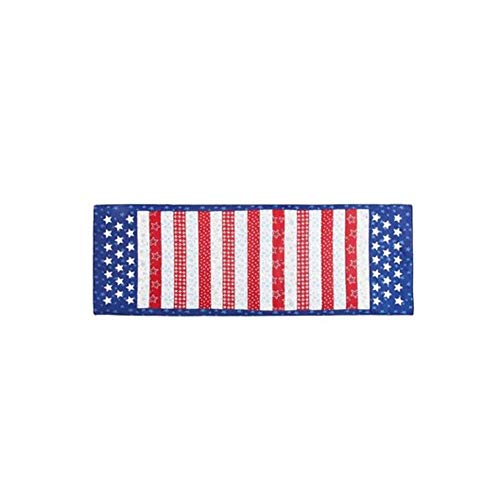 - Nanucket Classic Americana Stars and Stripes Applique Table Runner 36