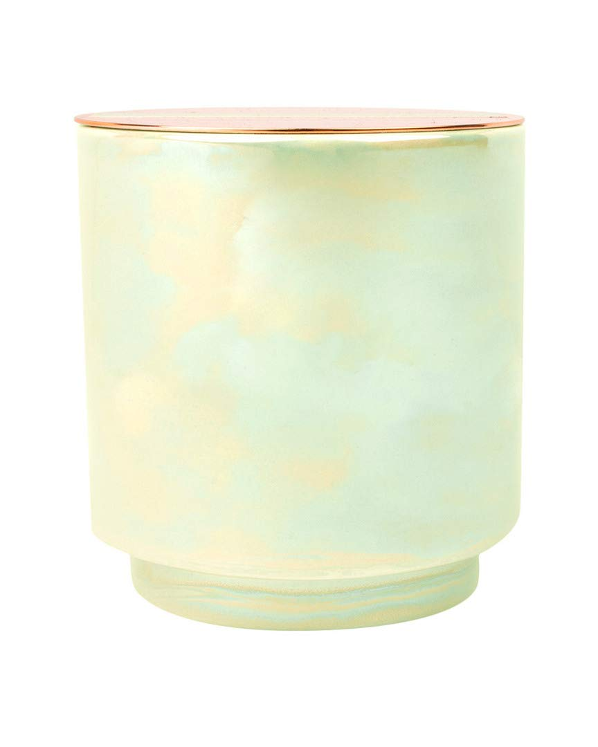 Paddywax Glow Collection Scented Soy Wax Candle, 17-Ounce, White Woods & Mint