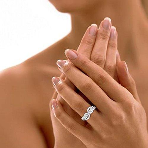 18K Or Blanc, 0,46carat Diamant Taille ronde (IJ | SI) en diamant