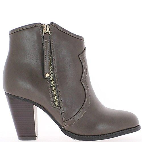 tacón Botines a mujeres zapatos duplicaron se las de negras de 3cm 8Z1ZqA