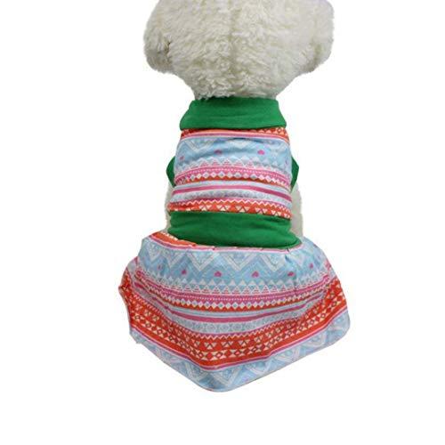 Jim-Hugh for Small Dog Summer Dogs Clothing Dresses Pet Cute Summer Skirt Chihuahua Ropa Perro Roupas para Cachorro -