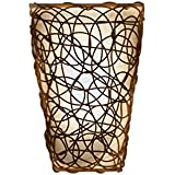 itu0027s exciting lighting iel2110 shade with wicker and flicker sconce tan shade with brown wicker battery operated lightweight and mobile - Battery Operated Sconces