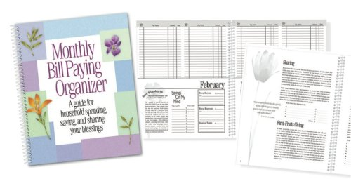 amazon com monthly bill paying organizer personal organizers
