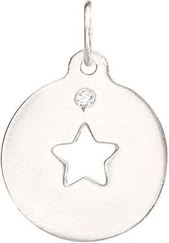 Helen Ficalora Star Cutout Charm with Diamond White Gold