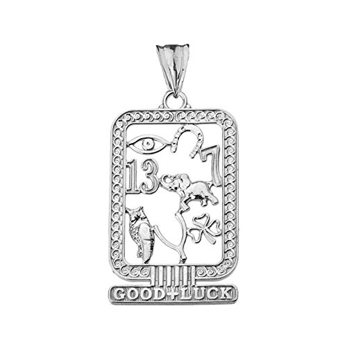 Pendant Sterling Silver Cartouche - Fine Sterling Silver Ancient Egyptian Good Luck Cartouche Pendant