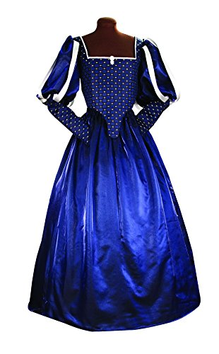 Women's Renaissance Milady's Gown Halloween Queen, Princess or Noble (X (The Three Musketeers Costume Design)