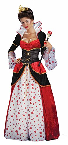 Forum Novelties Womens Queen of Hearts Halloween Party Wonderland Costume, Red, -