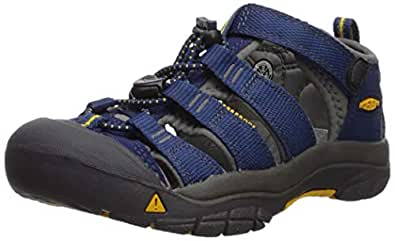 KEEN Shoes Boys' Newport H2 Sandals, Blue Depths and Gargoyle, 1 AU