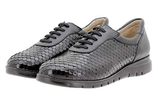 Larghezza Comfort Speciale Piesanto Negro Scarpe Pelle Donna 9994 Sneaker qwY0Ew6