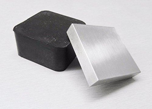 2'' RUBBER& STEEL BLOCK BENCH ANVIL 2Pc COMBO JEWELRY STAMPING FORMING DAPPING (11 E) by NOVELTOOLS