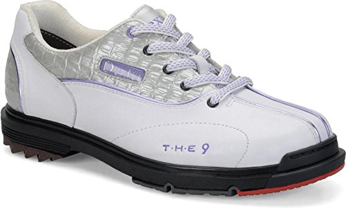 9 Bowling Shoes, White/Lilac, Size 7 (Dexter Bowling Shoes Women)