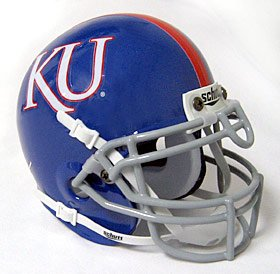 Kansas Jayhawks Schutt Mini Helmet - 2007-09 Throwback
