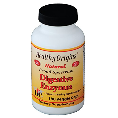 Healthy Origins Digestive Enzymes Vegetarian Capsules, 180 Count