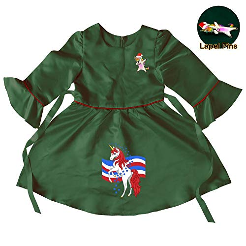 Baby Girls Red-Unicorn Princess Christmas Dress up for Toddler Party Fancy/Formal Costume Gowns 8-9 Years
