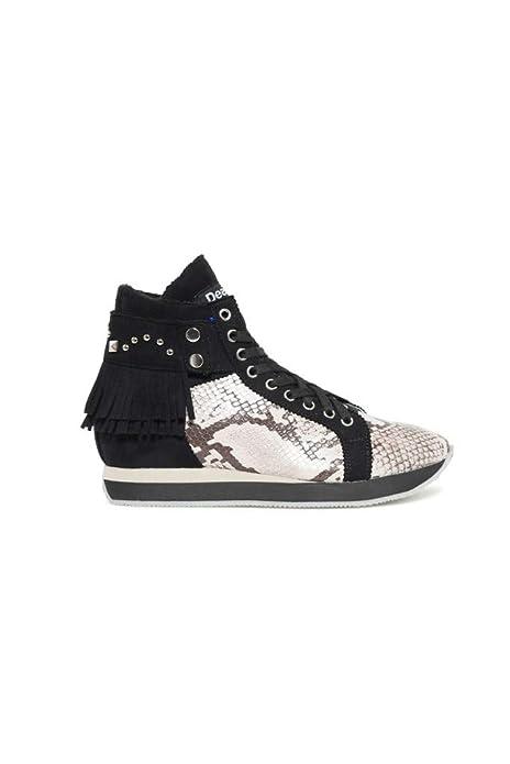 Desigual Shoes_miwok B&w, Zapatillas Altas para Mujer: Amazon.es: Zapatos y complementos