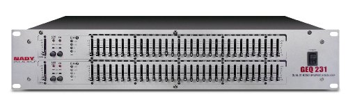 Nady GEQ-231 (2U) 2-Channel, 31-Band Per Channel Graphic Equalizer by Nady