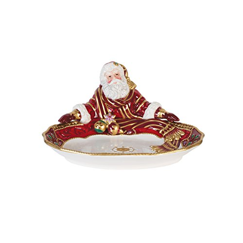 Fitz and Floyd 49-664 Renaissance Holiday Santa Server, Serving Bowl - Fitz And Floyd Renaissance