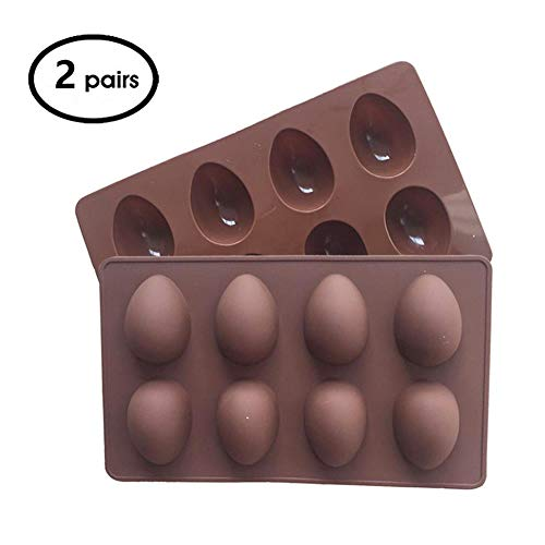 Teanfa Easter Eggs molds, vegan eggs siliconemold pan, 2 Pack