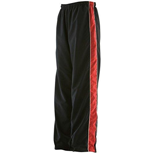 Finden & Hales Piped pantalón de chándal para mujer Black/ Red/ White