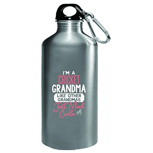 Gift Cricket Grandma Much Cooler Mothers Day Present - Water Bottle by My Family Tee