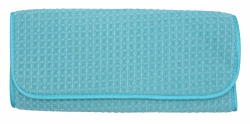 2 x Microfibre Kitchen Sink Dish Drying Washing Up Drainer Tea Towel Mat (Blue) bs