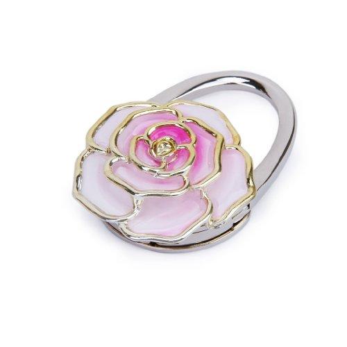 folding-handbag-purse-bag-hanger-durable-table-hook-hang-holder-rose-flower-shape-pink