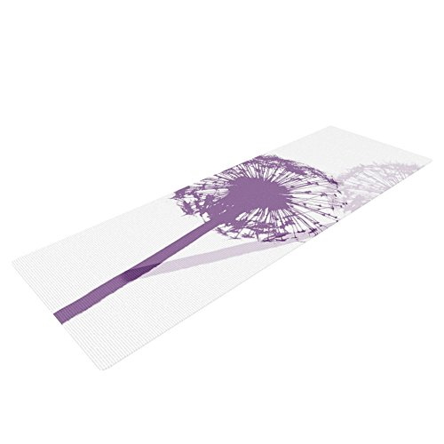 KessインハウスMonika Strigel「Dandelion」ヨガ練習マット、パープル花、72 x 24インチ   B00T7GZMZG