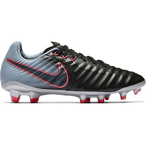 NIke Junior Tiempo Legend VII FG Soccer Cleats-Silver black Size: 4Y (Nike Mens Tiempo Ligera Iv Fg Soccer Cleats)
