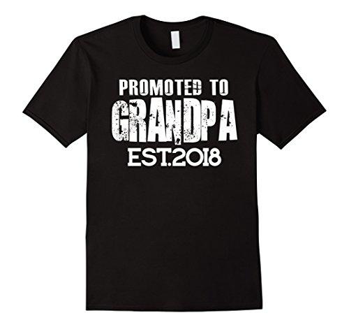 Promoted To Grandpa Est 2018 T-shirt (T-shirt Grandpa)
