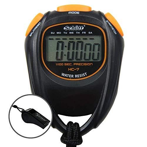 Schütt Stopwatch HC-7 met fluitje, digitale stopwatch met groot display en goed drukpunt, hobby | sport | vrije tijd…